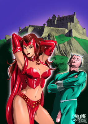 Scarlet Witch and Quicksilver - 01 BurnButt