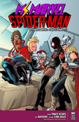 Miss Marvel Spider-Man - 00a Cover BurnButt