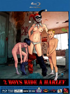 2 Boys Ride a Harley - page00 Cover BurnButt