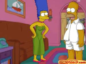 Lustful Homer and Marge - 001+ BurnButt