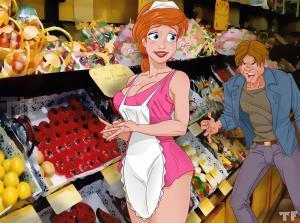 Ariel Lets A Customer Sample Her Goods - 01 BurnButt