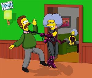Patty and Selma Bouvier rape Ned Flanders (FTF) - page01 BurnButt