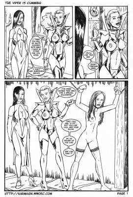 The Viper is Cumming - page01 BurnButt