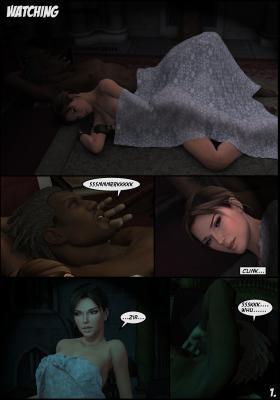 Lara Croft and Doppelganger - page01 BurnButt