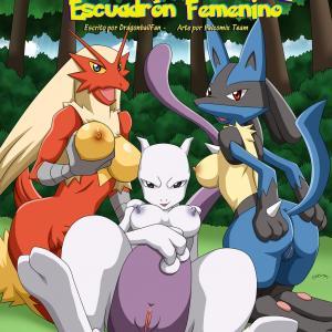 Pokemon Female Squad (Spanish) - page00 Cover BurnButt