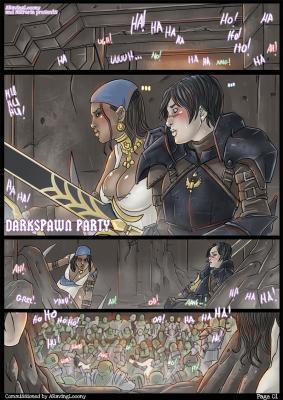 Darkspawn Party - page01 BurnButt
