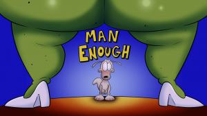 Man Enough (English) - page00 Cover BurnButt