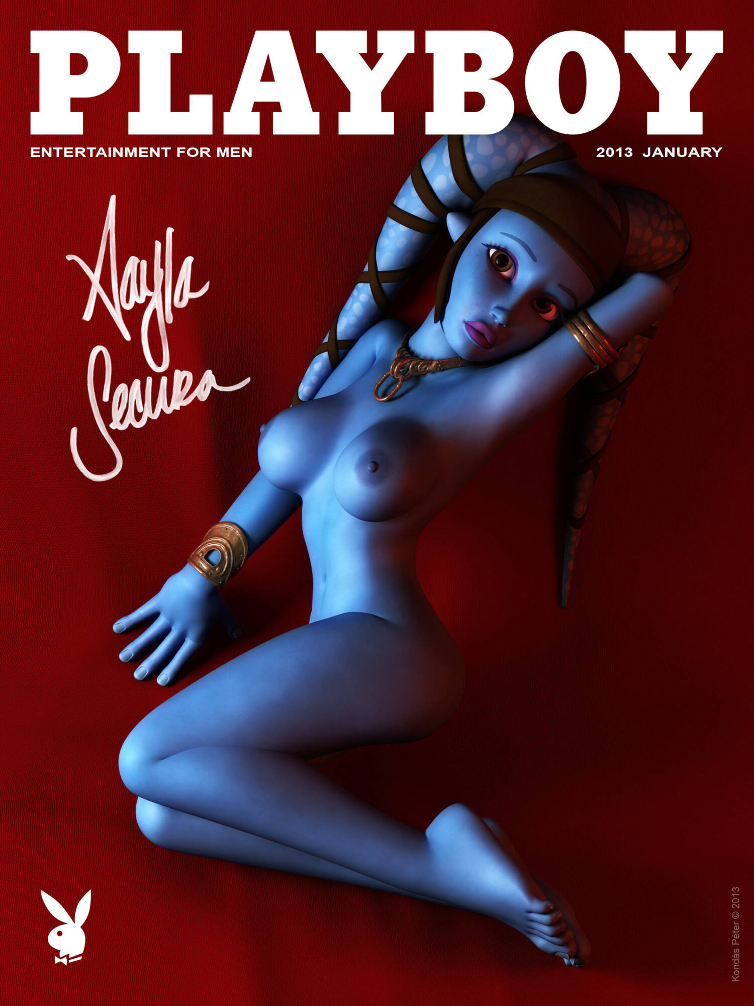 Playboy Covers and Centerfolds - page09 Aayla Secura On Playboy Cover A Fox's Tale,Crossover,Planet 51,Smurfs,Star Wars,  xxx porn rule34