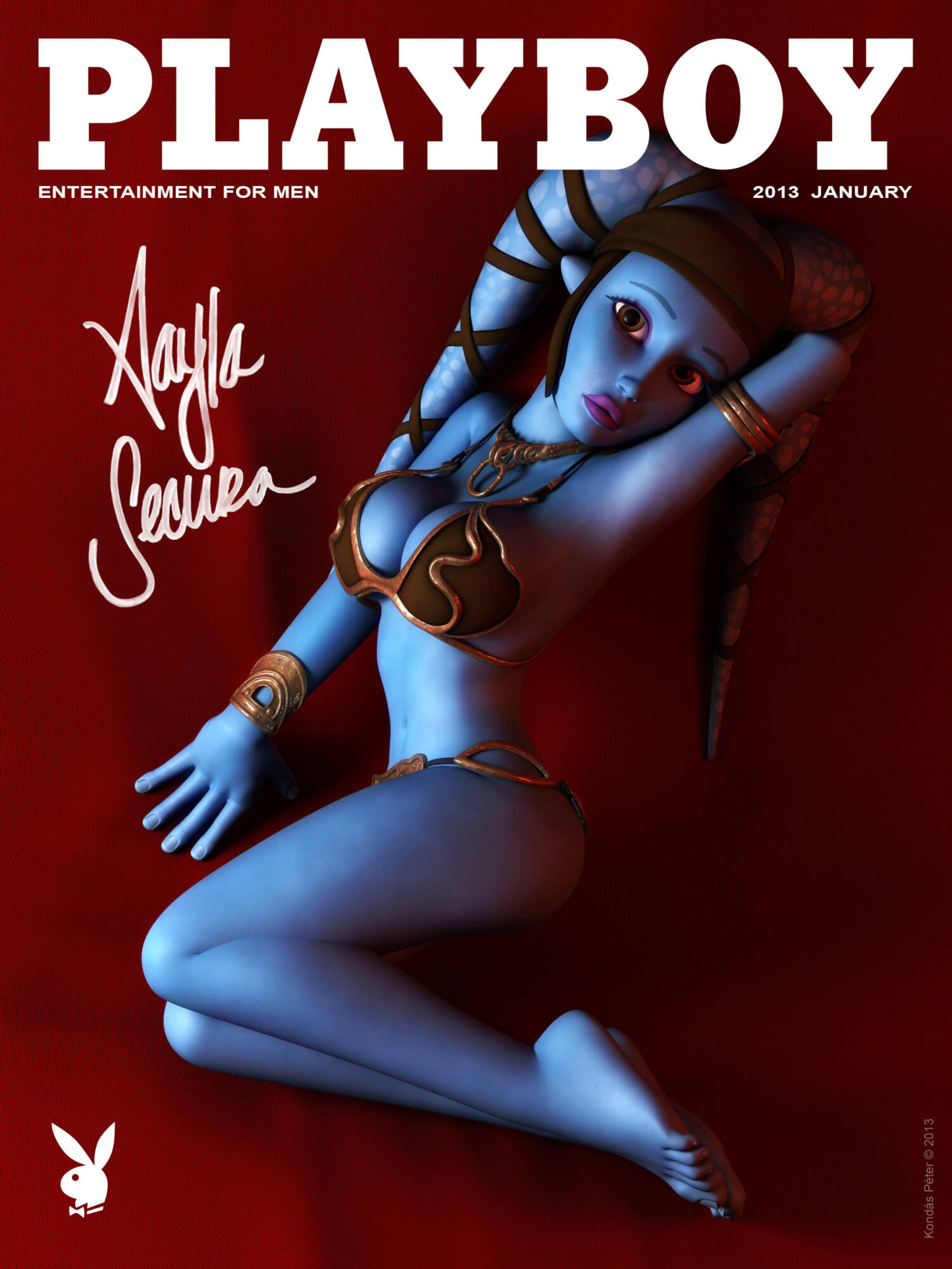 Playboy Covers and Centerfolds - page10 Aayla Secura On Playboy Cover A Fox's Tale,Crossover,Planet 51,Smurfs,Star Wars,  xxx porn rule34