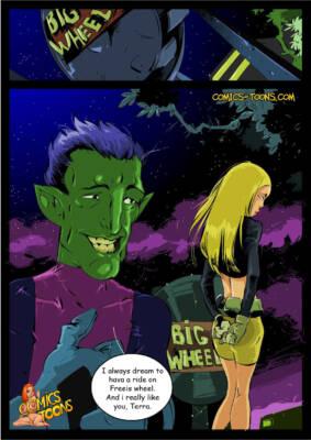 Terra and Beast Boy - page01 BurnButt