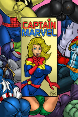 Captain Marvel - page00 Cover BurnButt