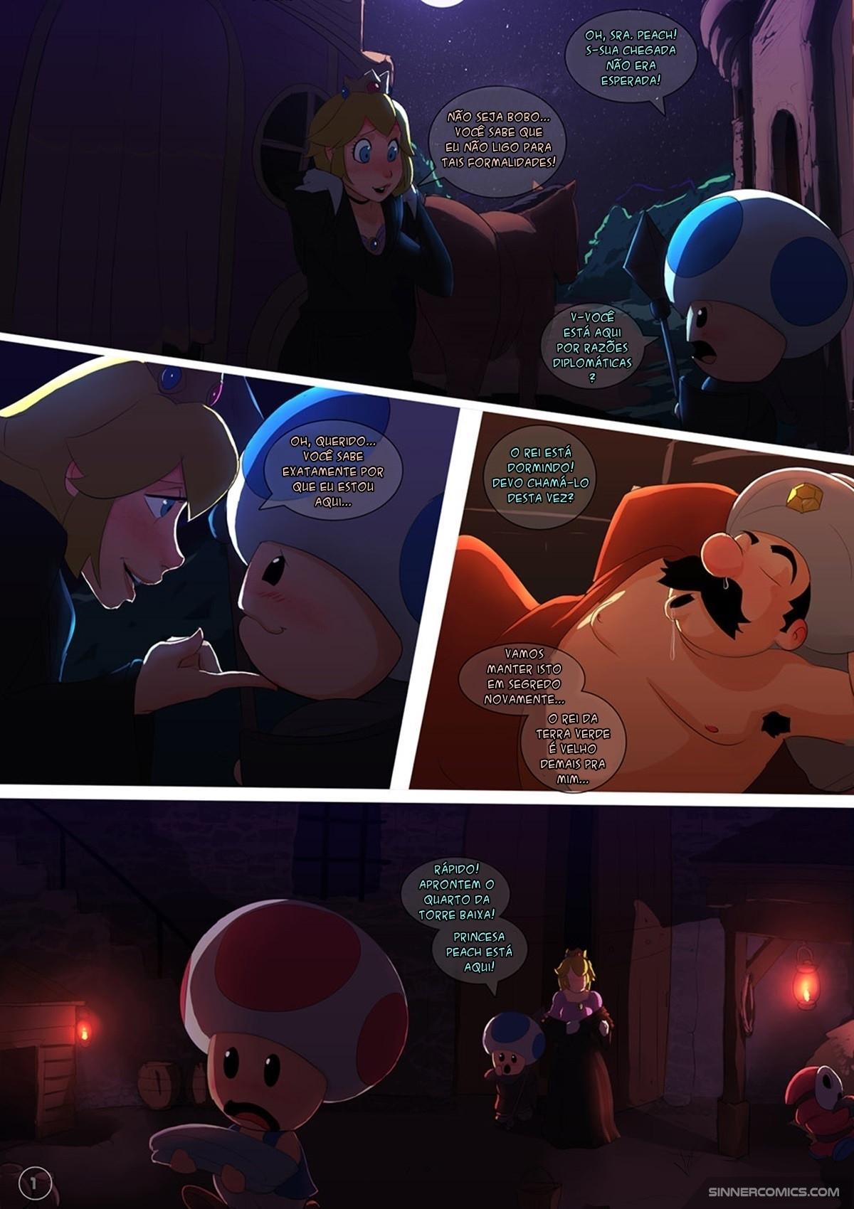 Peach Princess (Potuguese) - page01 Super Mario Bros,  xxx porn rule34