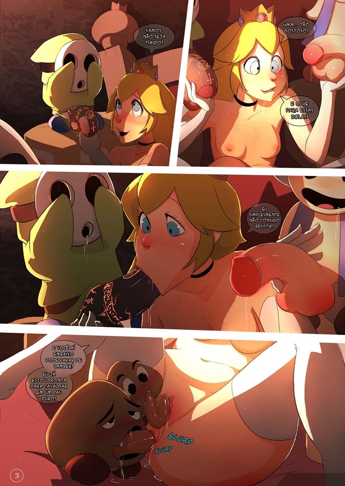 Peach Princess (Potuguese) - page03 Super Mario Bros,  xxx porn rule34