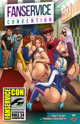 Fanservice Convention (Spanish)  - page00 Cover BurnButt