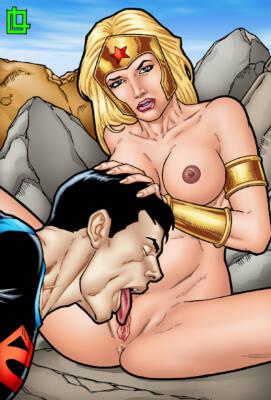 Wonder Girl and Superboy - page01 BurnButt