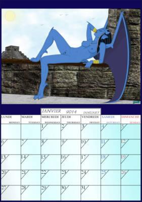 Calendar 2014 - page01 Obsidiana BurnButt