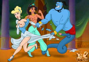 Cinderella Loves Visiting Her Friend Princess Jasmin - page01 BurnButt