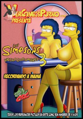 Los Simpsons Viejas Costumbres.3 Recordando A Mama (Italian) - page00 Cover BurnButt