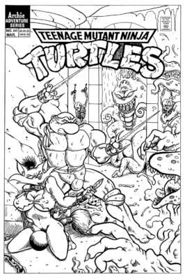 Teenage Mutant Ninja Turtles hentai comic - page01 BurnButt