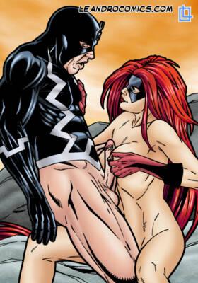 Black Bolt and Medusa Having Hardcore Sex! - page01 BurnButt