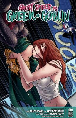 Ghost Spider vs Green Goblin (English) - page00 Cover BurnButt
