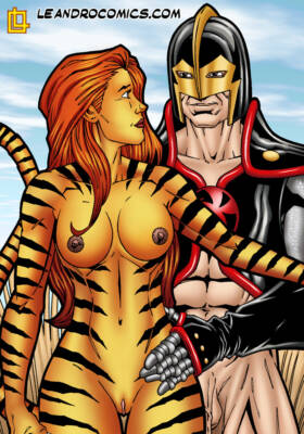 Tigra Gets Wild And Kinky With The Black Knights Meat Sword - page01 BurnButt