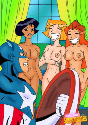 Captain America Gets a Sexy Visit From The Totally Spice Girls! - page01 BurnButt