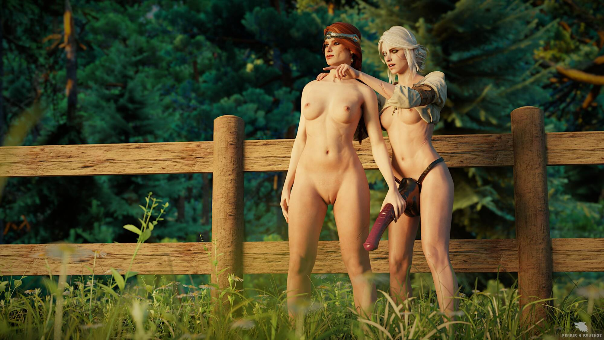 Favorite Horses #3 - Ciri and Cerys At The Meadow - page02 Witcher,  xxx porn rule34