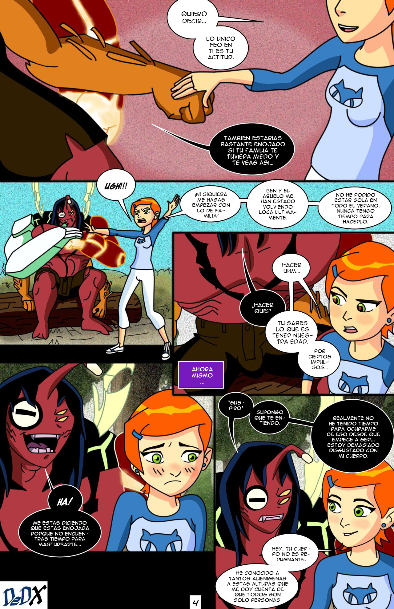 Gwen X 11 (Spanish) - page04 Ben 10,  xxx porn rule34