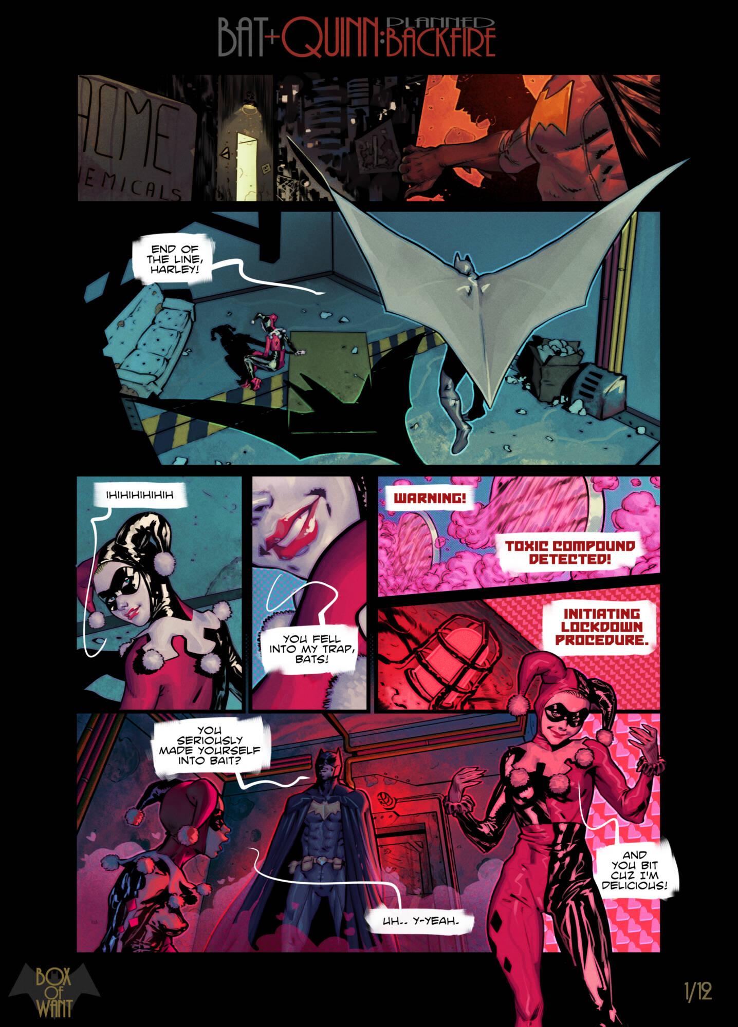 Planned Backfire (English) - page01 Batman,DC Comics,  xxx porn rule34