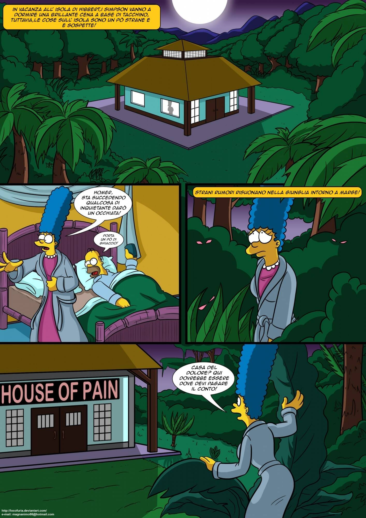 Treehouse of Horror 1 (Italian) - page01 Simpsons,  xxx porn rule34