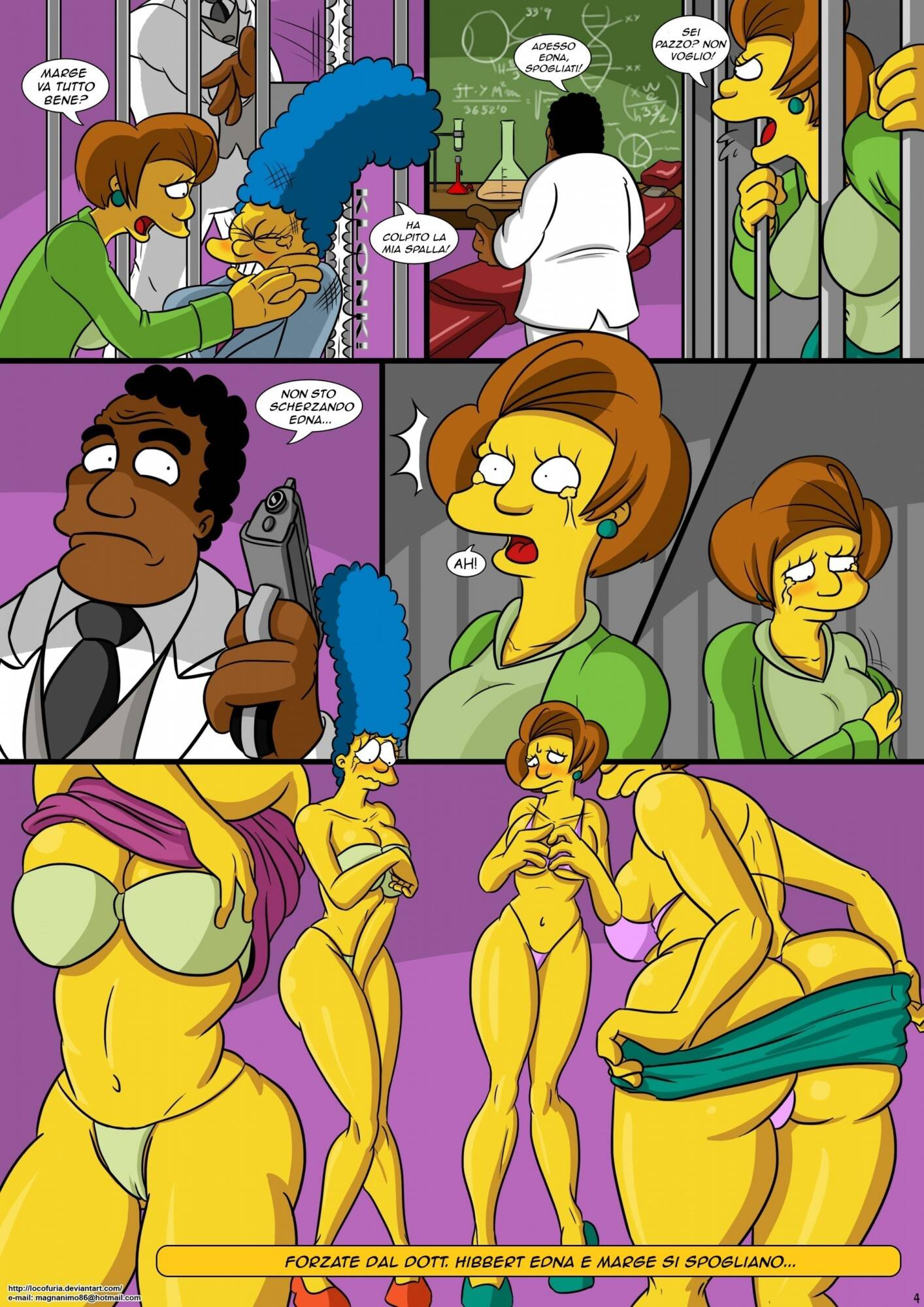 Treehouse of Horror 1 (Italian) - page04 Simpsons,  xxx porn rule34