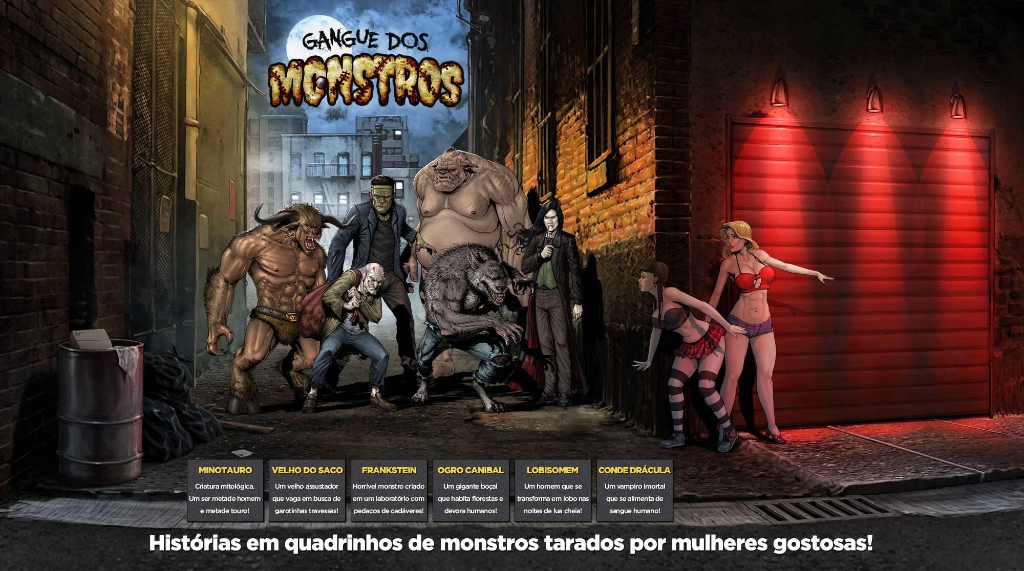 Gangue Dos Monstros 2 - Frankstein (Portuguese) - page00 Info Frankenstein,  xxx porn rule34