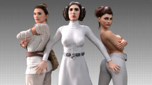 Star Wars Girls - page00 Cover BurnButt
