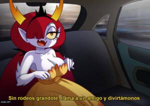 Waifu Taxi - Hekapoo (Spanish) - page01 BurnButt
