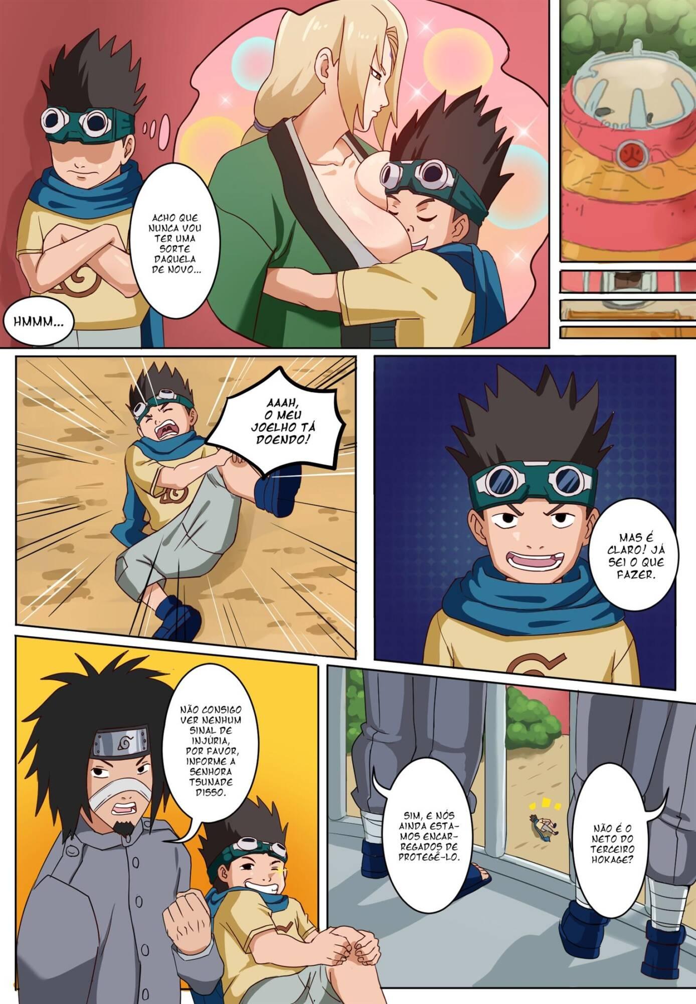 Senju Tsunade to Sarutobi Konohamaru (Portuguese) - page01 Naruto,  xxx porn rule34