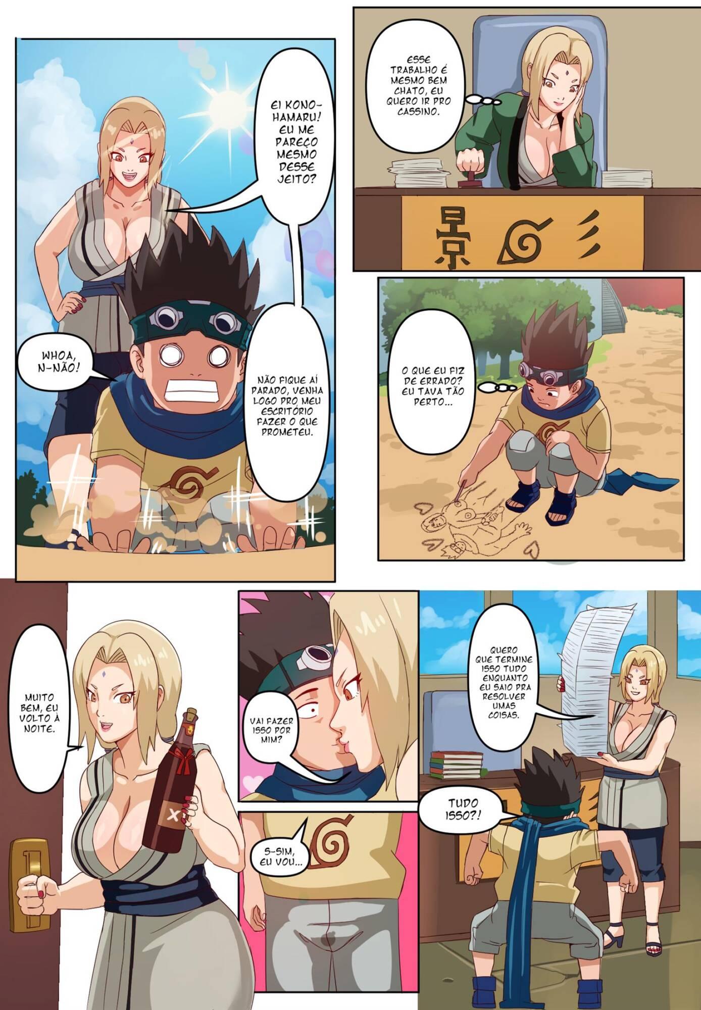 Senju Tsunade to Sarutobi Konohamaru (Portuguese) - page08 Naruto,  xxx porn rule34