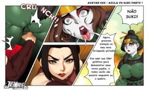 Avatar XXX - Azula VS Suki (Portuguese) - page01 BurnButt