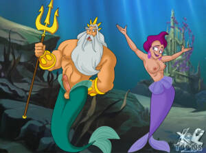King Triton Having Hard Sex With A Mature Mermaid Lady - page01 BurnButt