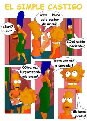 Marge & Lisa & Bart (Spanish) - page01a BurnButt
