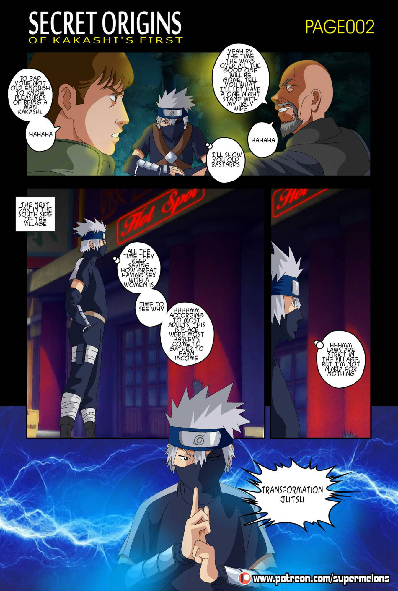 Secret Origins of Kakashi's First (English) - page002 Naruto,  xxx porn rule34