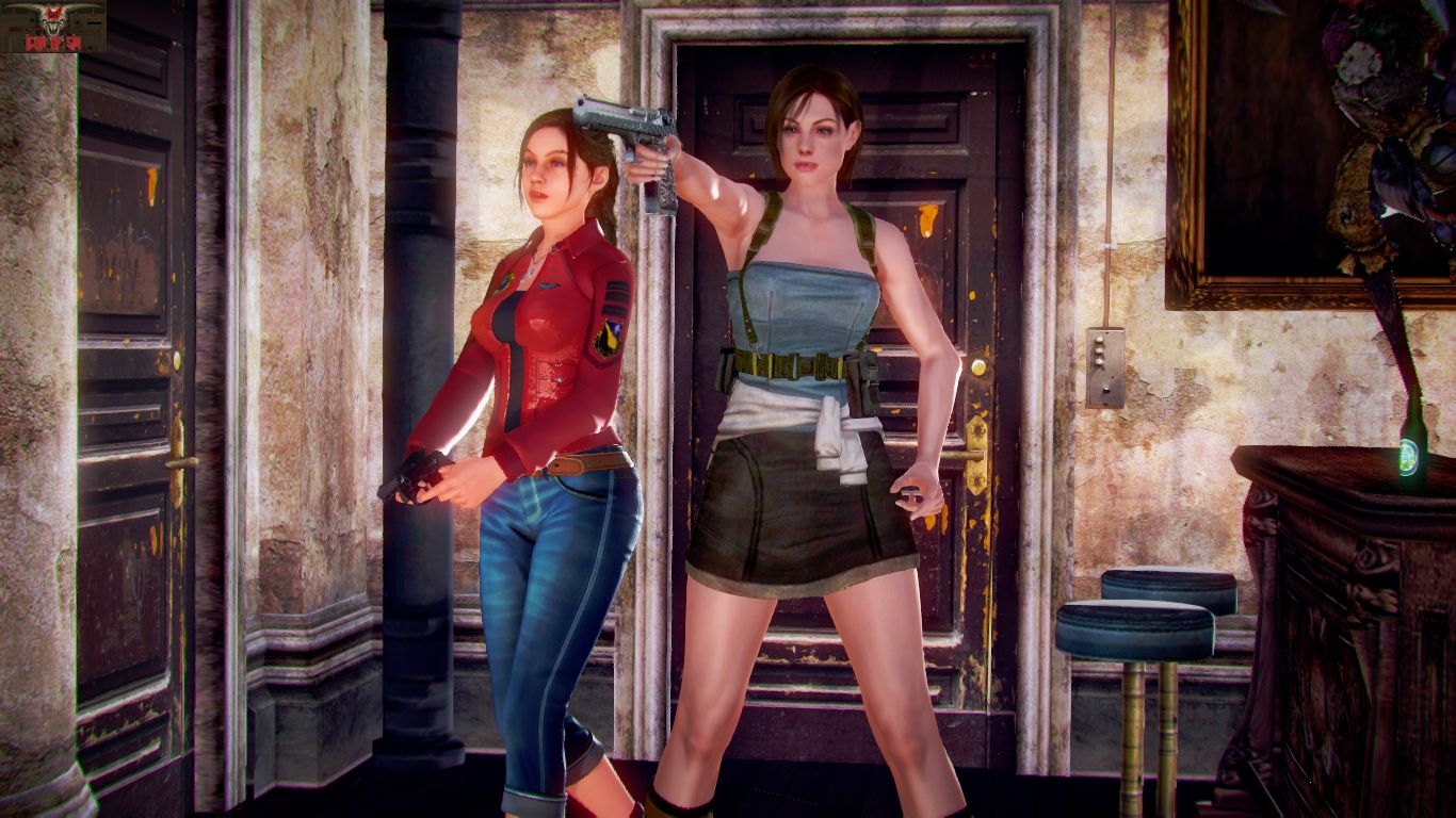 Jill and Clare's Safe Room - page01 Resident Evil,  xxx porn rule34
