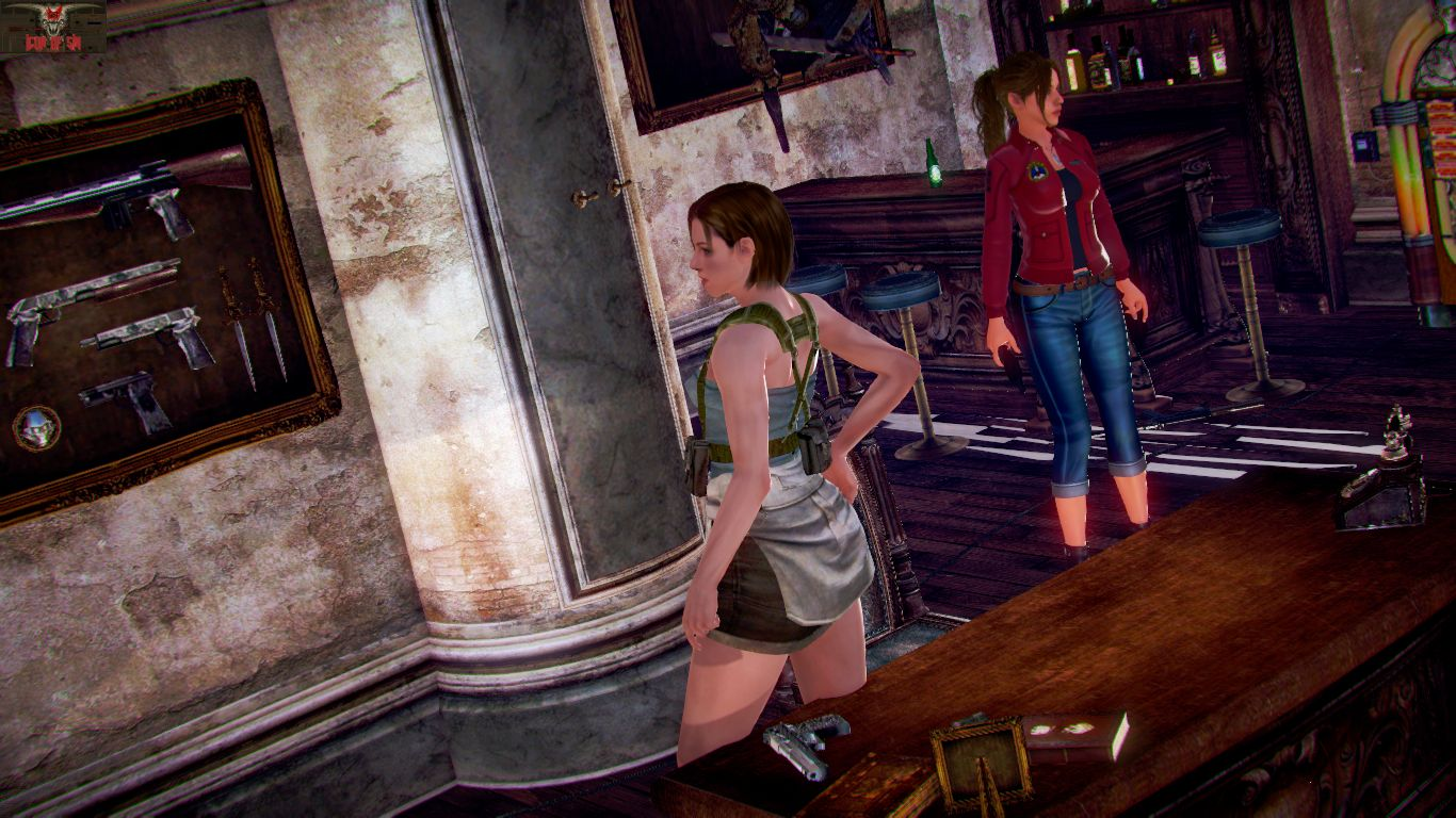 Jill and Clare's Safe Room - page02 Resident Evil,  xxx porn rule34