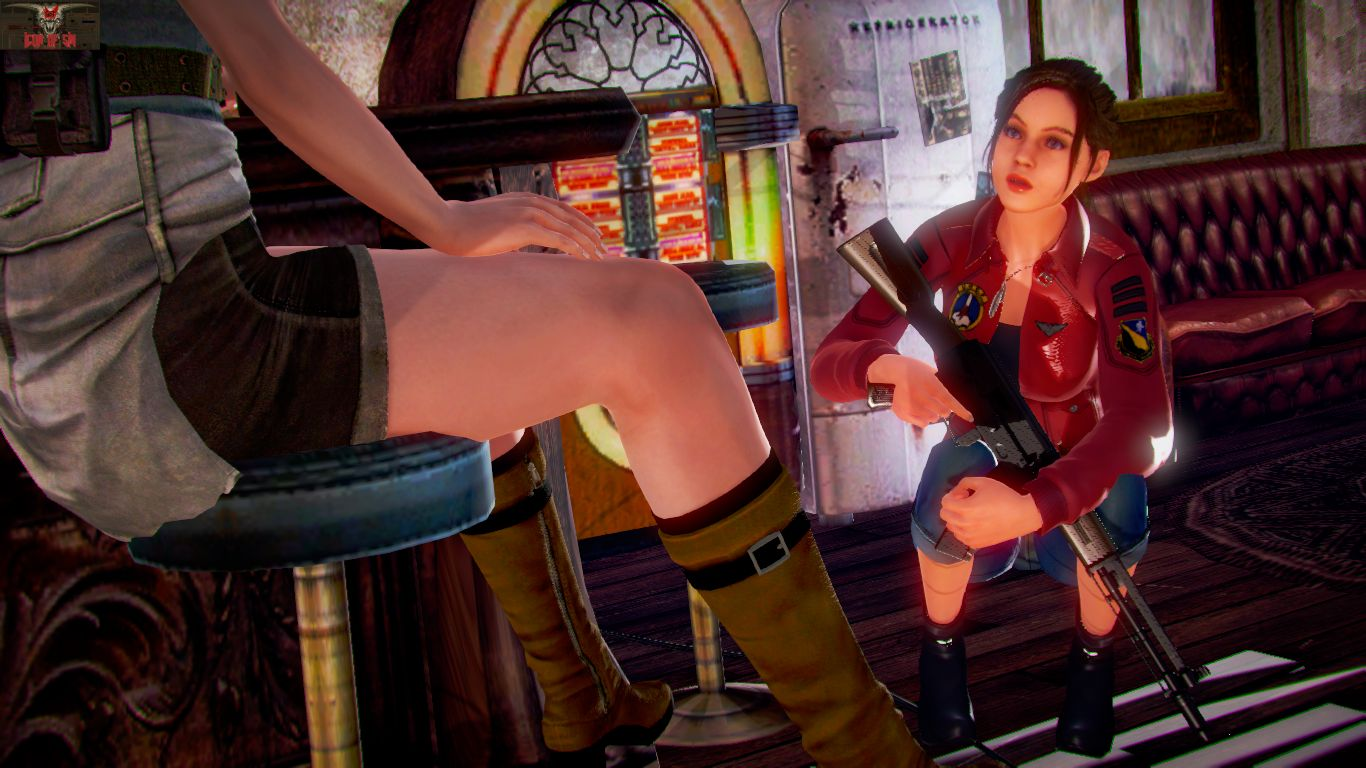Jill and Clare's Safe Room - page04 Resident Evil,  xxx porn rule34