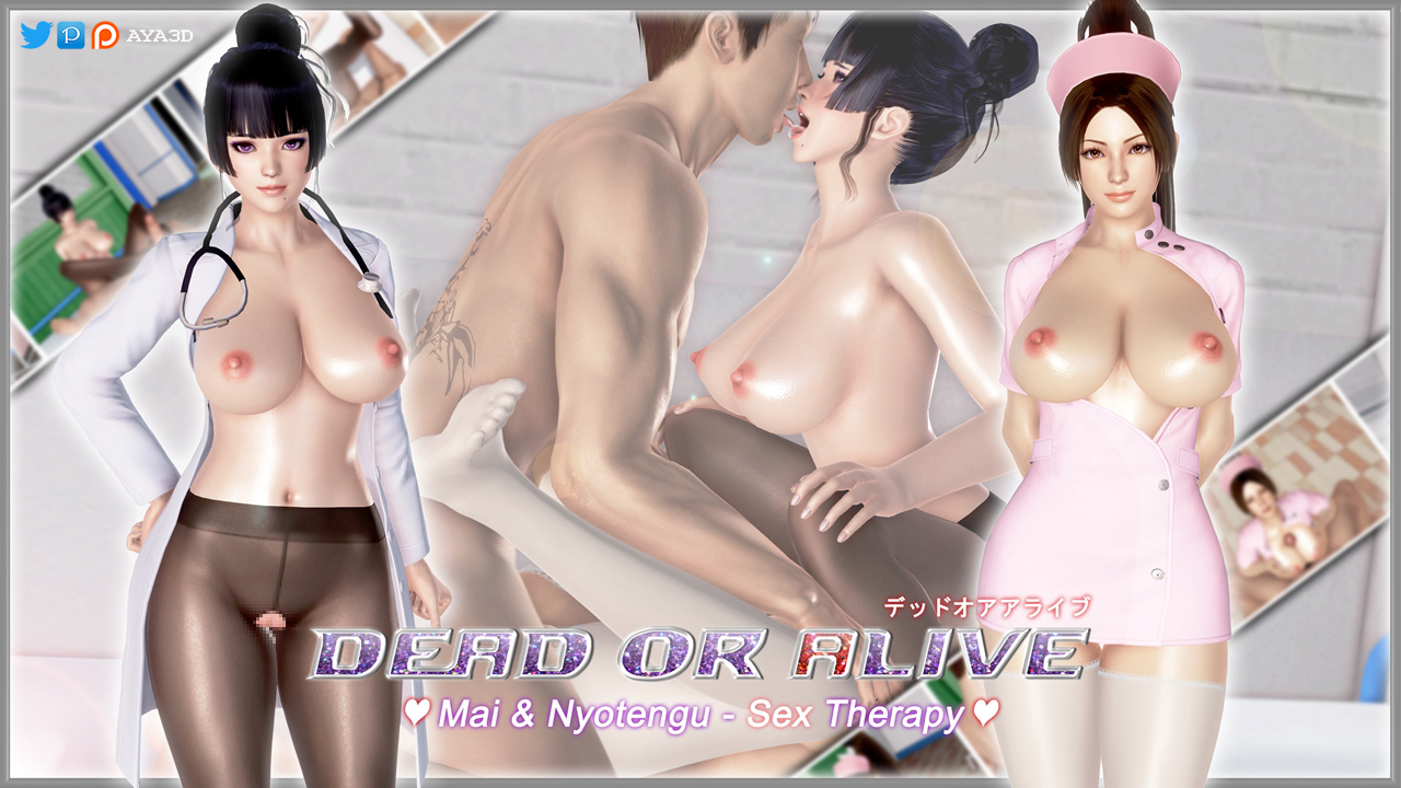 Mai & Nyotengu - Sex Therapy (English) - page00 Cover Dead or Alive,Fatal Fury,King of Fighters,Street Fighter,  xxx porn rule34
