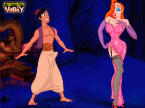 Jessica Rabbit Enjoys Making Aladdin Cheat On Jasmine With Her! - p01 BurnButt