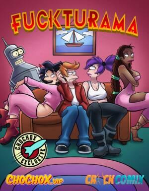 Fuckturama (Spanish) - page00 Cover BurnButt