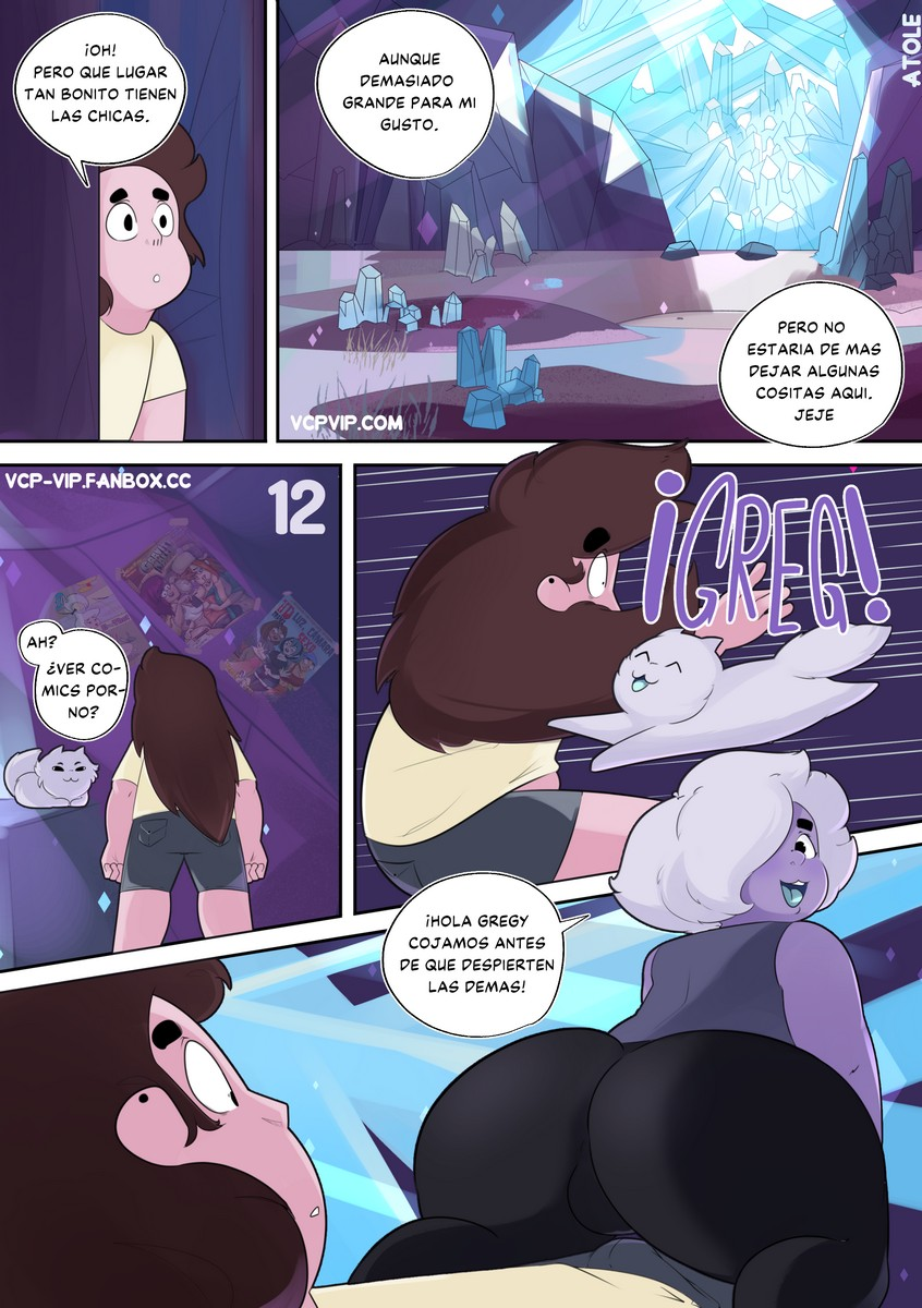 Greg Universe and the Gems of Lust 2 (Spanish) - p12 Steven Universe,  xxx porn rule34