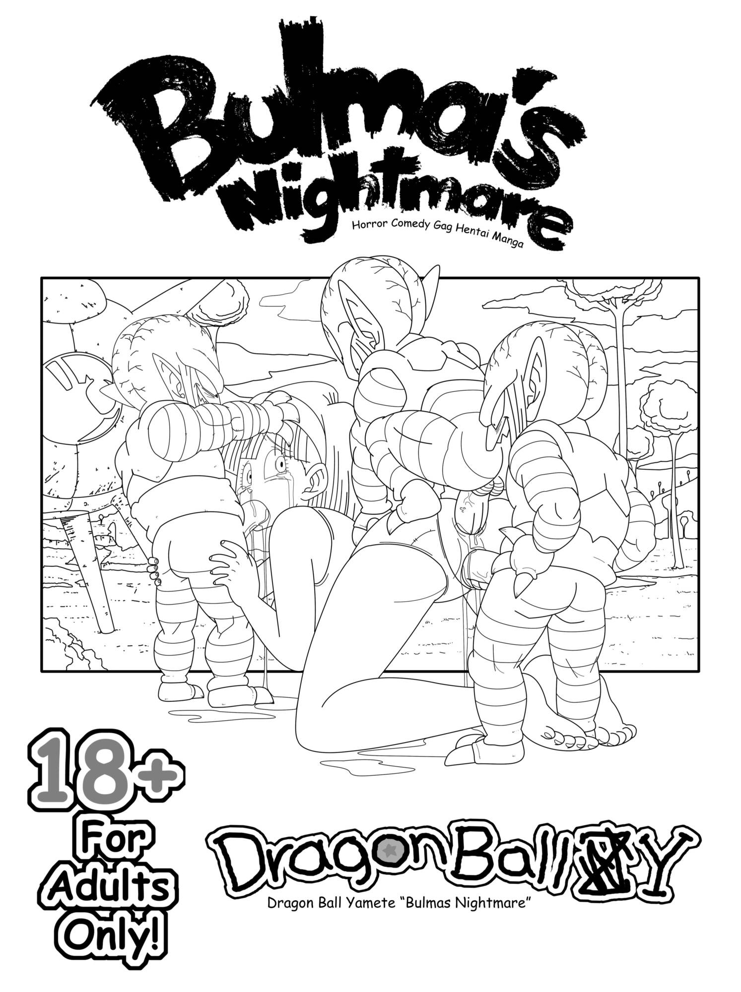 Bulma's Nightmare (English Lines) - page00 Cover Dragon Ball,  xxx porn rule34