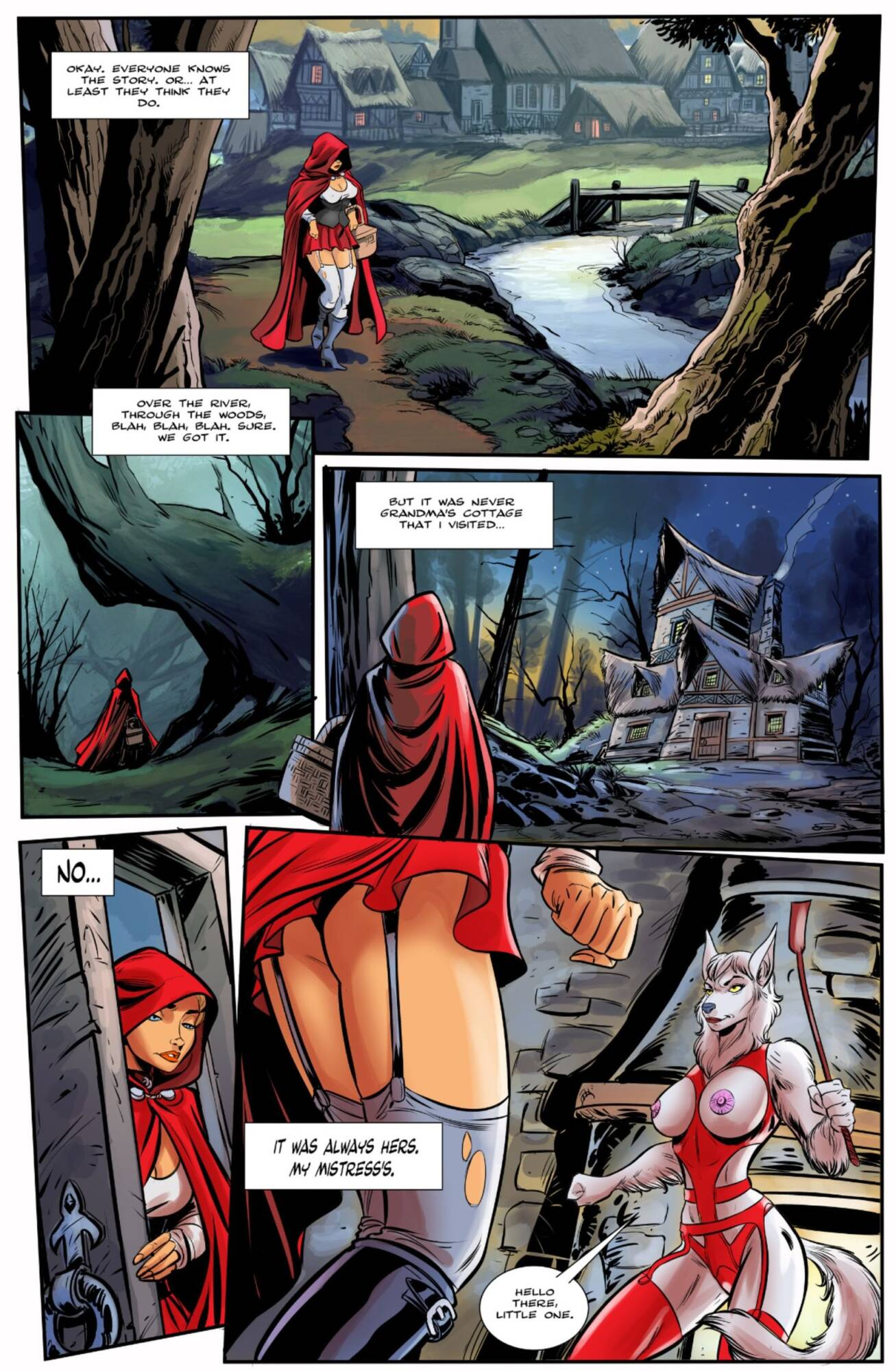 Red Riding Hood (English) - page01 Crossover,Frozen,Little Red Riding Hood,Moana,  xxx porn rule34